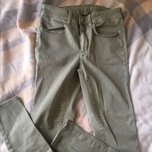 Olive American Eagle Jeans